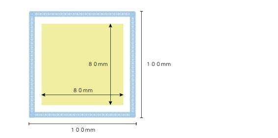 マイクロファイバー印刷サイズ