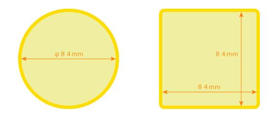 シリコン・マウス印刷サイズ