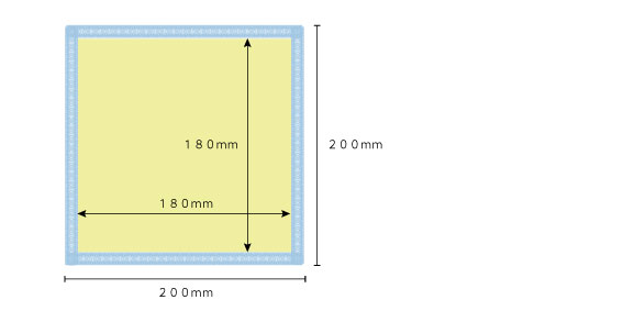 ミニタオル印刷サイズ