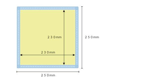ハンドタオル印刷サイズ